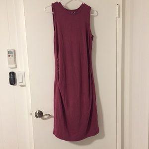 Mauve maternity dress